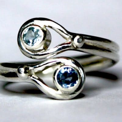 Hand Made Jewellery - Destiny ring with sapphire