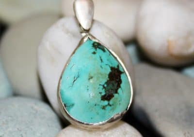 Turquoise teardrop pendant 46 cost will vary depending on stone