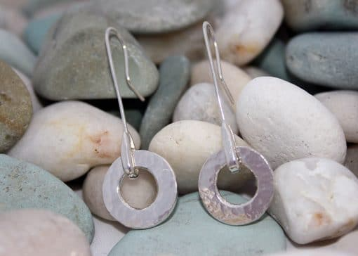 Hand Made Jewellery - Hammered effect earrings